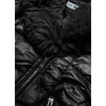 Prešívaná dámska zimná bunda čierna  (FM16-01)