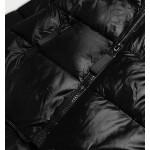 Dámska asymetrická zimná bunda čierna   (8953-A)