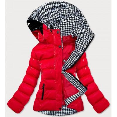 Dámska prešívaná zimná bunda červená (W807#)