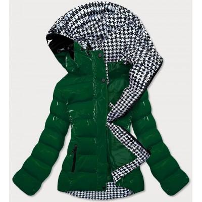 Dámska prešívaná zimná bunda zelená (W807#)