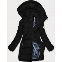 Dámska asymetrická zimná bunda čierna (M-21113)