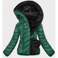 Dámska obojstranná zimná bunda zelená (M832A)