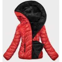 Dámska obojstranná zimná bunda červená (M832A)