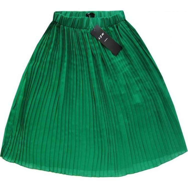Dámska plisovaná sukňa zelená (9260)
