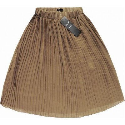 Dámska plisovaná sukňa béžová (9260)