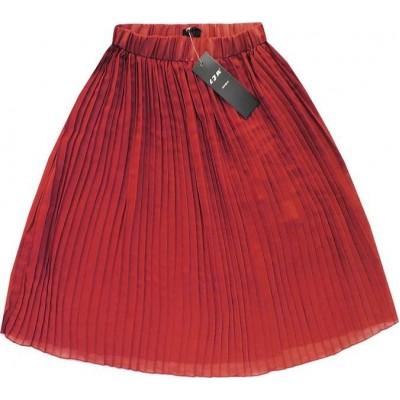 Dámska plisovaná sukňa koralová (9260)