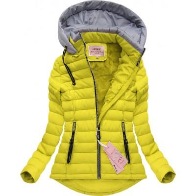 Dámska zimná bunda žltá (W515)