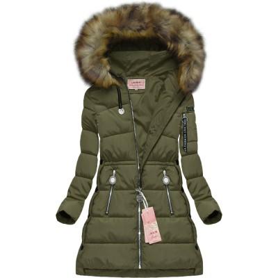 Dámska zimná bunda khaki (W594)
