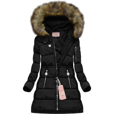 Dámska zimná bunda čierna (W594)