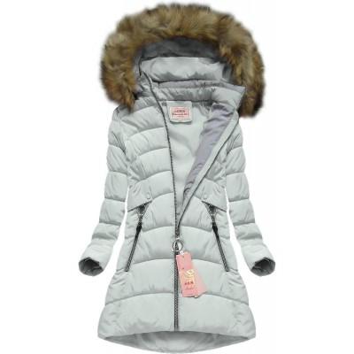 Dámska zimná bunda šedá (W609)