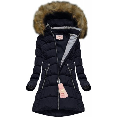Dámska zimná bunda modrá (W609)