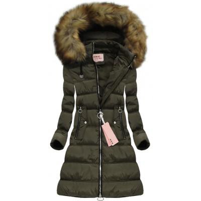 Dámska zimná bunda khaki (W701)