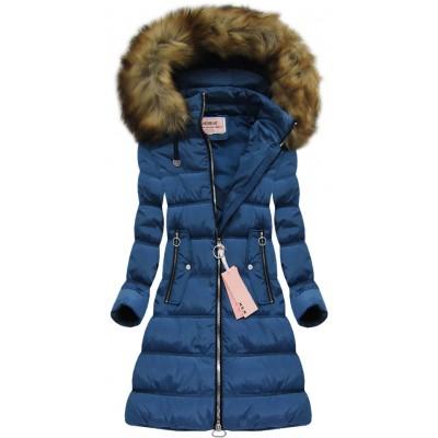 Dámska zimná bunda tmavomodrá (W701) 2324aa493df