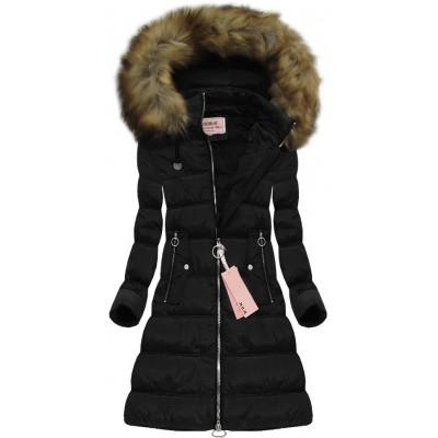 Dámska zimná bunda čierna (W701)