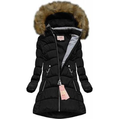 Dámska zimná bunda čierna (W609BIG)