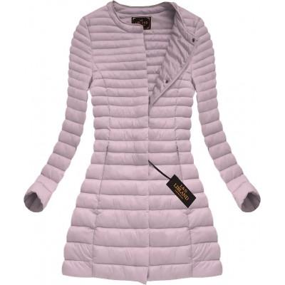 Dámska dlhá prechodná bunda staro-ružová (X7148BIGX)