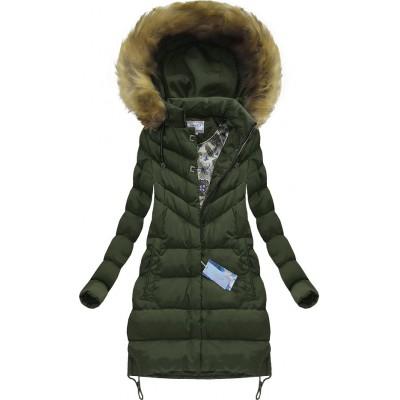 Dámska zimná bunda khaki (W580BIG)