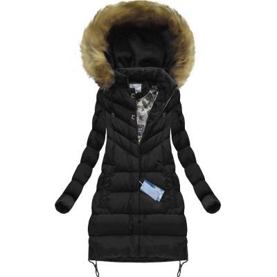 Dámska zimná bunda čierna (W580BIG)