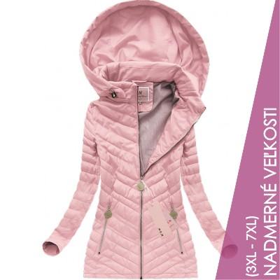 Dámska prechodná bunda ružová (W625BIG) 40ac95456d