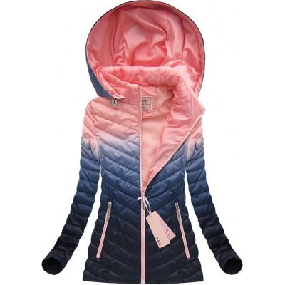 Dámska prechodná bunda ružová (W615) 61d01bf3fb