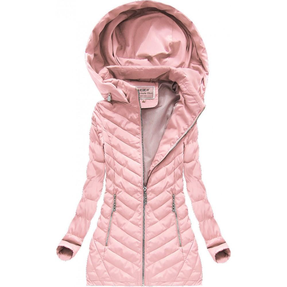 Dámska prechodná bunda ružová (W620) b119d86ac8