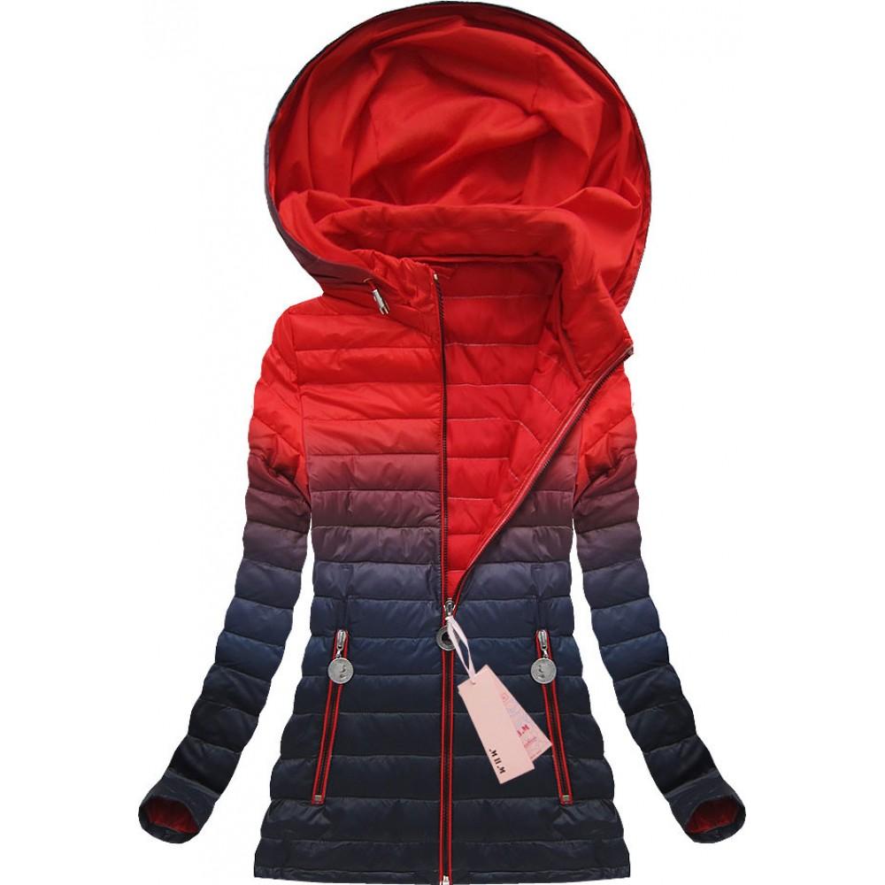 087e1ae47bd3 Dámska prechodná bunda červeno-modrá (W616)