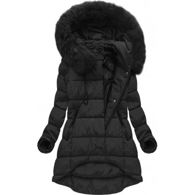 Dámska zimná bunda čierna (X7670X)