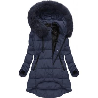 Dámska zimná bunda tmavomodrá (X7670BIGX)