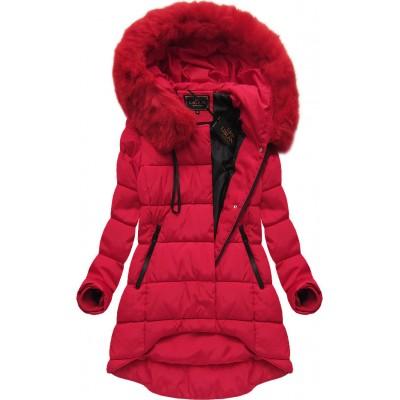 Dámska zimná bunda červená (X7670BIGX)