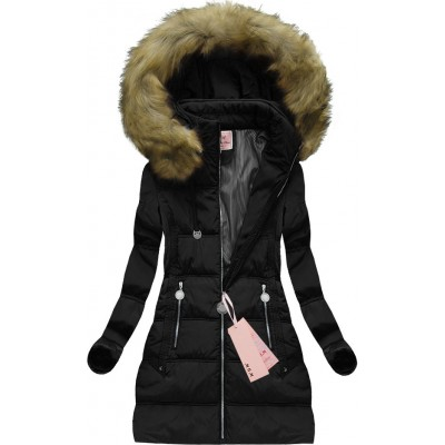 Dámska zimná bunda čierna (XW716X)