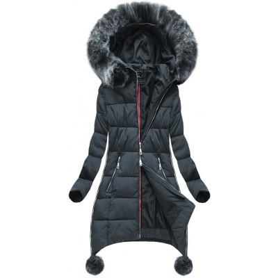 Dámska zimná bunda tmavošedá (GWW1716)