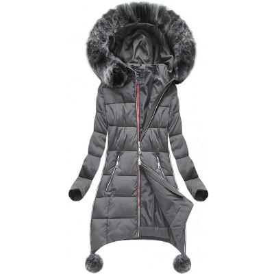 Dámska zimná bunda šedá (GWW1716)