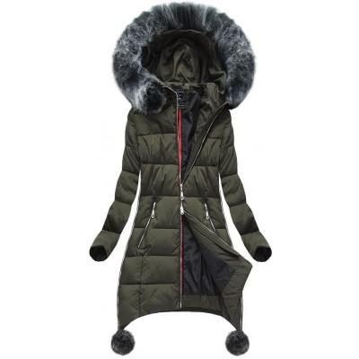 Dámska zimná bunda khaki (GWW1716)
