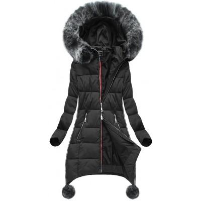 Dámska zimná bunda čierna (GWW1716)