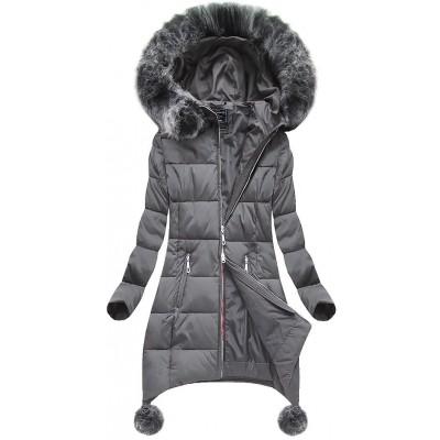 Dámska zimná bunda šeda (6788)