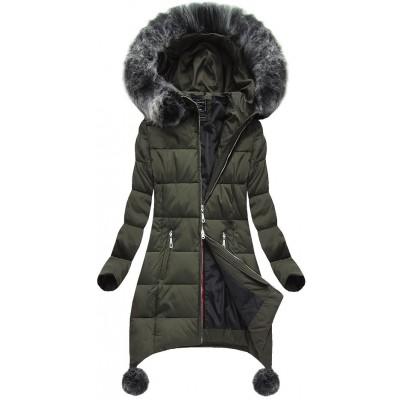 Dámska zimná bunda khaki (6788)