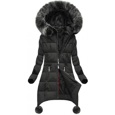 Dámska zimná bunda čierna (6788)