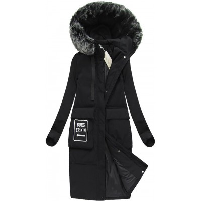 Dámska zimná bunda čierna (X7093X)