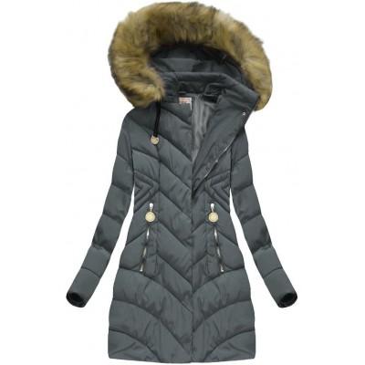 Dámska zimná bunda tmavošedá (XW717X)