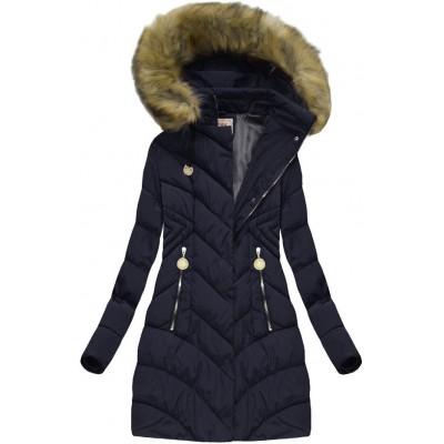 Dámska zimná bunda modrá (XW717X)