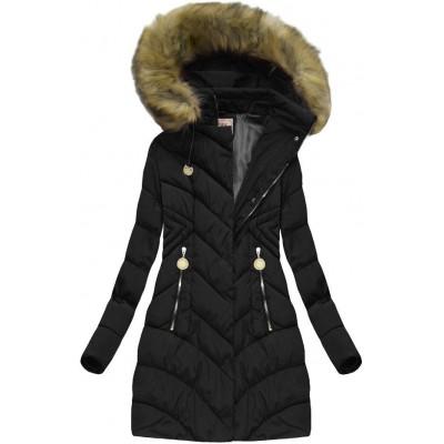 Dámska zimná bunda čierna (XW717X)