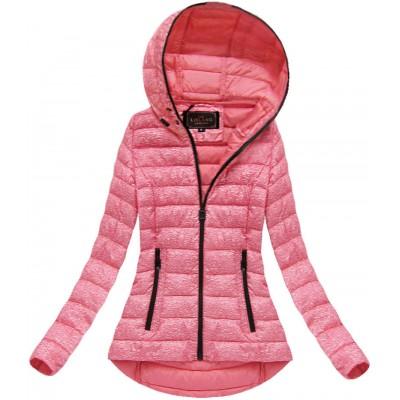 Dámska prechodná bunda s kapucňou ružová (7149) 2b6d52b57d