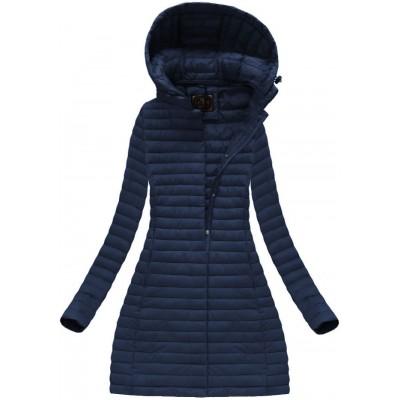 Dámska dlhá prechodná bunda modrá (7222BIG)
