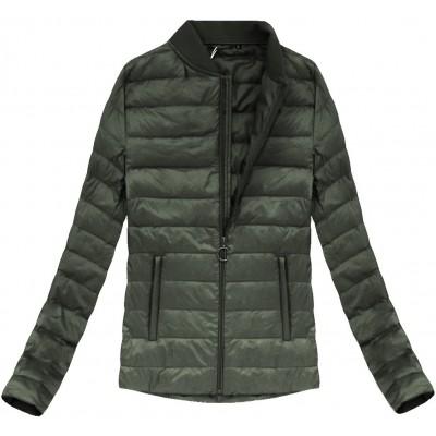 Dámska prechodná bunda khaki (7099)