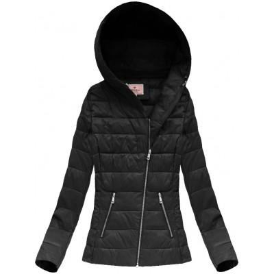 4947f0f406b4 Dámska jarná bunda s kapucňou čierna (1706)