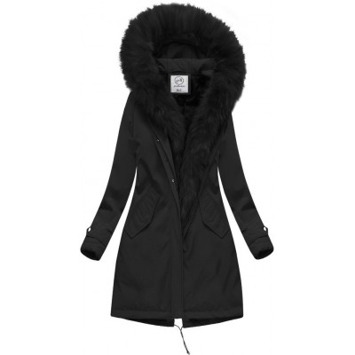 Teplá dámska zimná bunda čierna (CARMEN) e96d5cffb3e